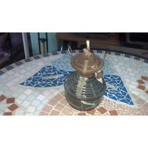 Lamparina/lampião Antigo Base De Vidro - Pequeno - Querosene