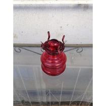 Lampião Lamparina Querosene Retro Antigo Vermelho