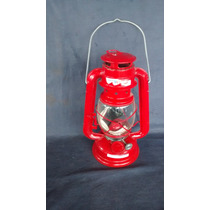 Lampião Lamparina Querosene Retro Vermelho