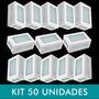Kit Com 50 Arandelas Retangular Area Externa - Kit50htar20x1