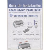 151 - Epson Stylus Photo R200 Manual De Instalação R$ 12,00