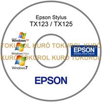 Cd De Instalação Impressora Epson Tx123 Tx125