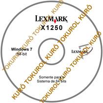 Cd De Instalação Impressora Lexmark X1250 (7_64-bit)