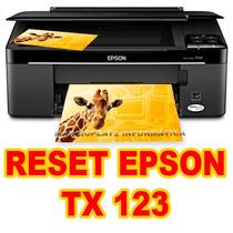 Reset Epson Stylus Tx123 ( Contador-almofada) Ilimitado