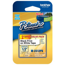 Fita M 231 Brother Rotulador Etiquetadora Preto/branco 12mm