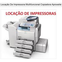 Locação Copiadora Impressora Multifuncional Ótimo Negócio