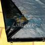 Lona Capa 5x5 Cinza Preta Plastica Leve Cobertura Lago Pppe