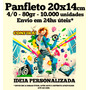 Panfleto 80gr 10.000 Unid. 14x20cm - 4/0 Envio Em 24hs Úteis