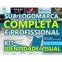 Logomarca Logotipo Identidade Visual, Cartão De Visita