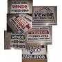 20 Placas Vende/aluga Para Imobiliária Em Pvc ¿ 50x40