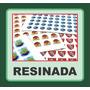 Adesivo Etiqueta Resinada Personalizada 10 Folhas