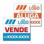 100 Placa P/ Imobiliária Eucatex - 60x40 Personalizada