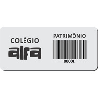 100 Etiquetas De Patrimônio Ativo Fixo P/ Empresas Logística