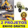 Kit Projeto Curvadora De Tubos + Projeto Kart Cross