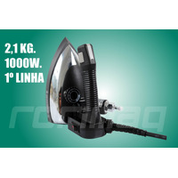 Ferro De Passar A Vapor Industrial C/ Acessórios 2,1kg 1000w