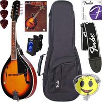 Bandolim Fender Fm100 Mandolin + Kit Acessórios - Kadu Som