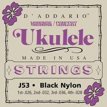 Encordoamento Para Ukulele Concert Daddario J53 Nylon Preto