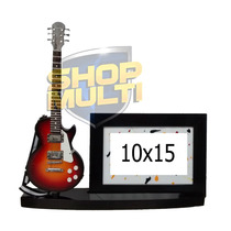 Porta Retrato 10x15 Com Miniaturas De Guitarras