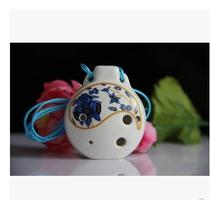 Ocarina Importada De Cerâmica - Afinada Em C Alto - 4 Furos
