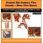 Projeto Kit Cadeira Vira Escada + Mesa Vira Banco
