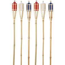 6 Pack 4' Tochas De Bambu 2705