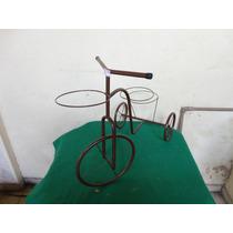 #12917 - Bicicleta Enfeite Jardim Marrom, Decorativa!!