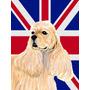 Cocker Spaniel Buff Com O Inglês Union Jack Bandeira Britâ