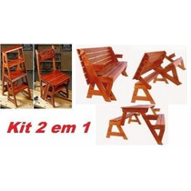 Projeto Kit Cadeira Vira Escada Mesa Vira Banco #10yw