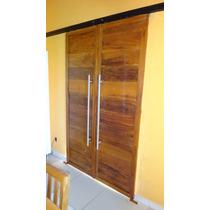 Porta De Correr Em Peroba Rosa (madeira Maciça) - Por M2