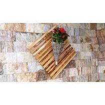 Floreira Suporte P\ Vaso Planta Com Cachepô Em Cipó