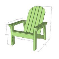 Projeto Marcenaria Cadeira Adiron Dack Plan Madeira