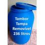 Bombona - Tambor Plastico 200 Litros / 236 Litros - Novo