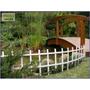 Conjunto Cerca Branca Treliça Para Jardim-1,08mx35cm Altura