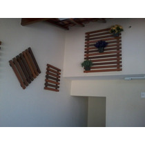 Deck / Jardim Vertical / Floreira Suspensa - Em Madeira