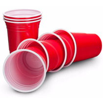 American Red Party Cups - Booze Cup - Copos Vermelhos Festa