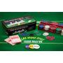 Jogo Poker Texas Com 200 Fichas + 2 Baralhos + Feltro
