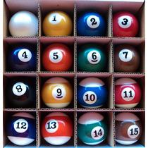 Bolas Bilhar/ Sinuca/ Snooker 50mm C/ Listras Importada