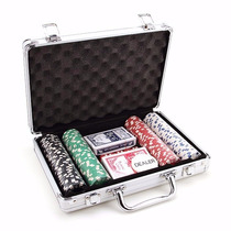 Maleta De Poker Kit 200 Fichas Numeradas