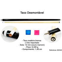 Taco Bilhar Sinuca Desmontável Black-white