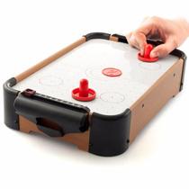 Mini Jogo Air Hockey Completo Mesa 51x31x10cm Pilhas