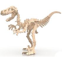 Velociraptor Puzzle 3d Mdf Quabra Cabeça Dinossauro Rex Osso