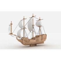 Navio Pirata Madeira Mdf Puzzle 3d Corte Laser