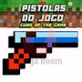 Pistola Revólver Arma Jogo Minecraft Xbox Diamante Ferro