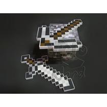 Kit Com Espada E Picareta De Ferro Minecraft