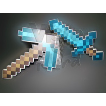 Kit Espada E Picareta Diamante Minecraft- Pronta Entrega!!!