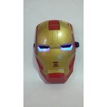 Mascara Homem De Ferro - Os Vingadores Com Luz E Som