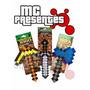 Kit 3 Ferramenta Minecraft Machado Espada Picareta Inmetro 1