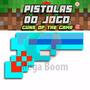 Pistola Revólver Arma Jogo Minecraft Diamante Ouro Ferro
