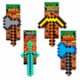 Faça Kit 4 Ferramenta Jogo Minecraft Machado Espada Picareta