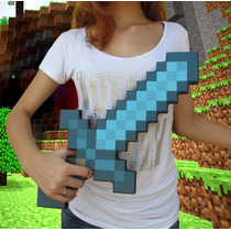 Espada De Diamante Minecraft Foam